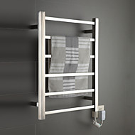 "Towel Warmer Stainless Steel Wall Mounted 680 x 530 x 110mm (26.7 x 20.8 x 4.33"") Stainless Steel Contemporary"