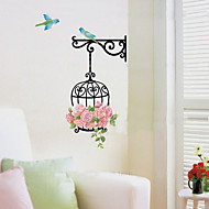 1PCS Colorful DIY Birdcage&Flower Wall Sticker