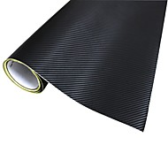 Merdia Decoration 3D PVC Carbon Fiber Film Wrap Sticker for Car- Black (127 x 50cm)