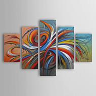 Pintados à mão AbstractoModern / Tradicional 5 Painéis Tela Hang-painted pintura a óleo For Decoração para casa