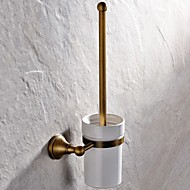 Toilet Brush Holder Antique Brass Wall Mounted 410*148mm(16.14*5.82inch) Brass Antique