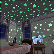 100PCS/Set  Luminous Stars Wall Stickers Art Decals(3cm)