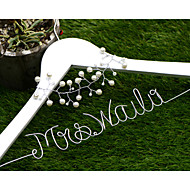 Personalized Wedding Dress Hanger with pearl flower