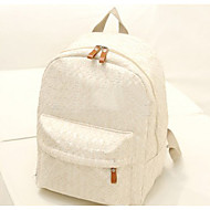 Women Nylon Backpack Beige / Black