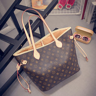 Women PU Casual / Outdoor Tote Brown