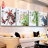 4PCS DIY 5D Diamond Mosaic Plum Orchid Bamboo Chrysanthemum flowers Diamond Painting Cross Stitch embroidery Home Decor