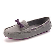 Women's Shoes Suede Flat Heel Comfort Loafers / Boat Shoes Dress / Casual Brown / Gray / Burgundy