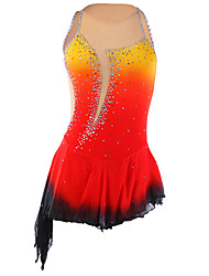 Ice Skating Dress Women's Sleeveless Skating Skirts & Dresses Figure Skating Dress Compression Sequined Spandex / Elastane RedSkating