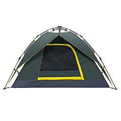 Makino 3-4 persons Tent Double Automatic Tent One Room Camping Tent 2000-3000 mm Oxford Waterproof Breathability Quick Dry-Hiking Camping