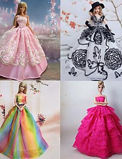 7ea12ba4d315 Prinsesse Kjoler Til Barbie Doll Lilla   Lyserød Kjoler For Pigens Doll Toy