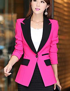 Women's Vintage Casual Work Medium Long Sleeve Regular Blazer
