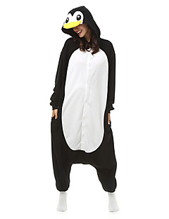Kigurumi Pajamas Penguin Leotard/Onesie Halloween Animal Sleepwear Black Patchwork Polar Fleece Kigurumi Unisex Halloween