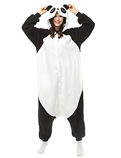 Kigurumi Pajamas Panda Leotard/Onesie Halloween Animal Sleepwear White Patchwork Polar Fleece Kigurumi Unisex Halloween