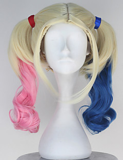 Movie Cospaly Super Heros Harley Women's Long Curly Anime Cosplay Wig
