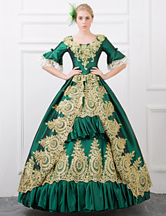 670c6ad028 Egyrészes/Ruhák Gótikus Lolita Steampunk® / Viktorijanski Cosplay Lolita ruhák  Piros / Zöld Régies