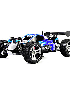 Buggy WLToys A959 4WD 1:18 Brush Electric RC Car 2.4G Red / Blue Ready-To-Go