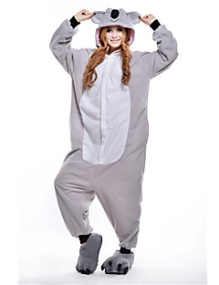 Kigurumi Pajamas Koala Leotard/Onesie Festival/Holiday Animal Sleepwear Halloween Gray Patchwork Polar Fleece Kigurumi For Unisex