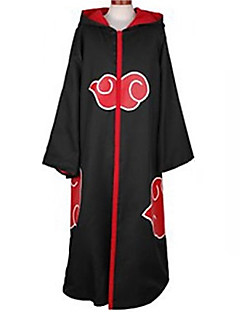 Anime Cosplay Costume Naruto Akatsuki Black Cosplay Cloak with Cap