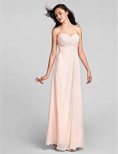 069c919f261e Lanting Bride® Lungo Chiffon Vestito da damigella - A tubino A cuore Taglia  forte  . Colore ...